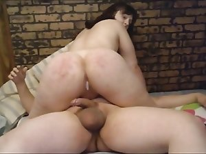 Amateur shemale amazing ride and creampie